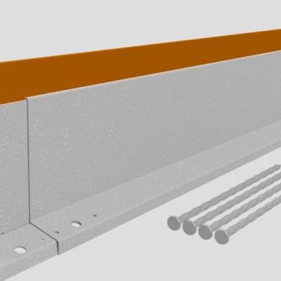Corten stalen rechte verhoogde rand 100 - 150 mm.