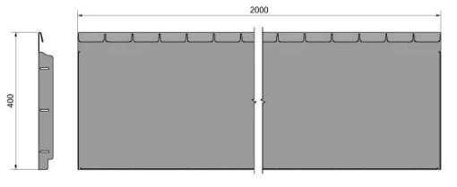 Straightcurve Flexline 400 mm. afmetingen