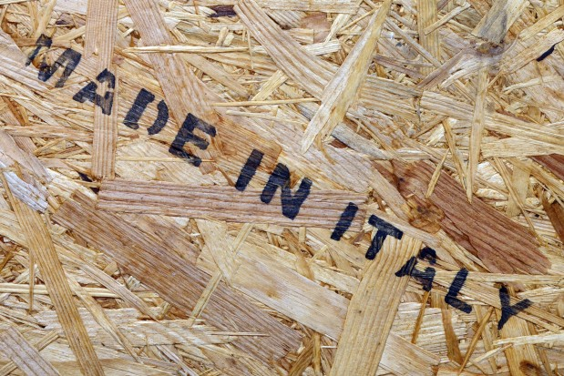 Made in Italy stencil box crate