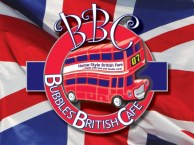 The original Bubbles British Cafe logo, inspired by great English icons, but tailored to the friendly, fun nature of the business itself.
