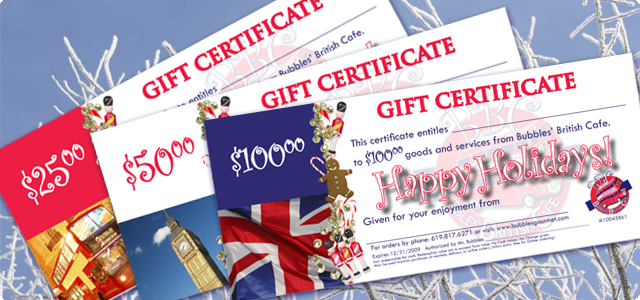Holiday gift certificates are a perfect way to keep them coming back for more while extending your brand identity!