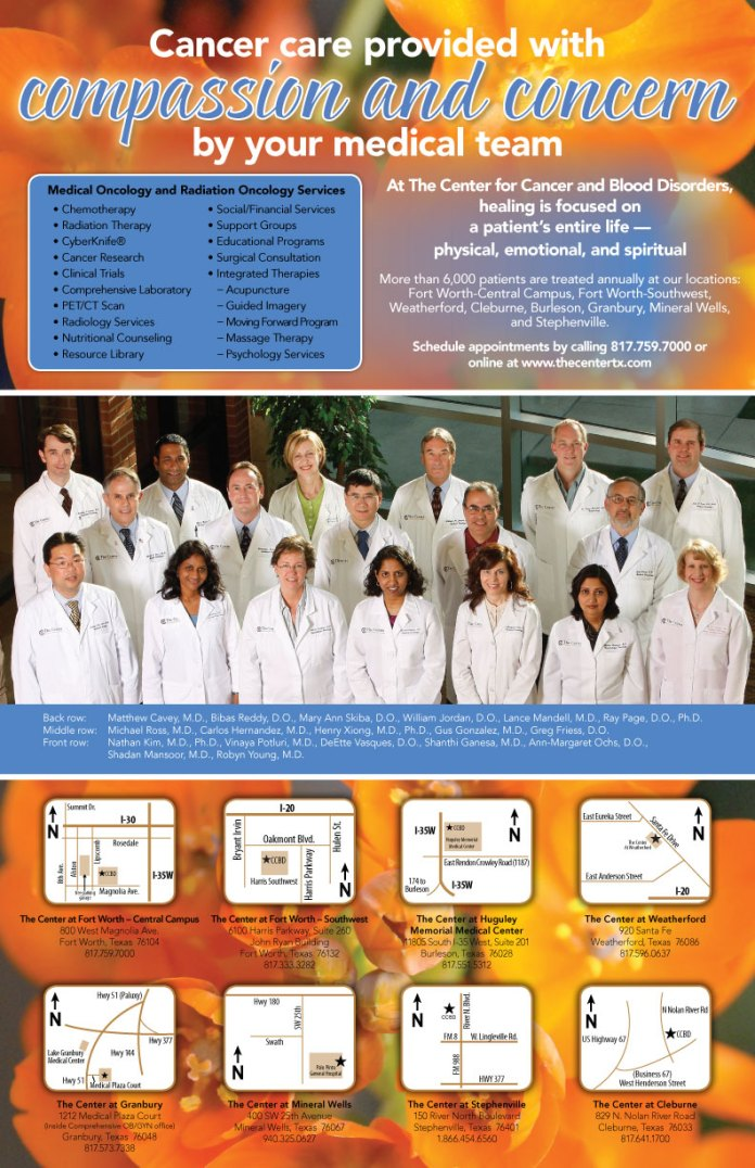 The Center for Cancer and Blood Disorders in Fort Worth, Texas provides a multitude of services that require careful thought when addressing life-threatening health issues. We strive to carefully consider the look and feel of all types of collateral that will help inform people of the services available to them in a way that relieves fears, rather than relying on them for action.