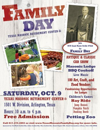 Community events like the annual Masonic Family Day helps members maintain community and family involvement.