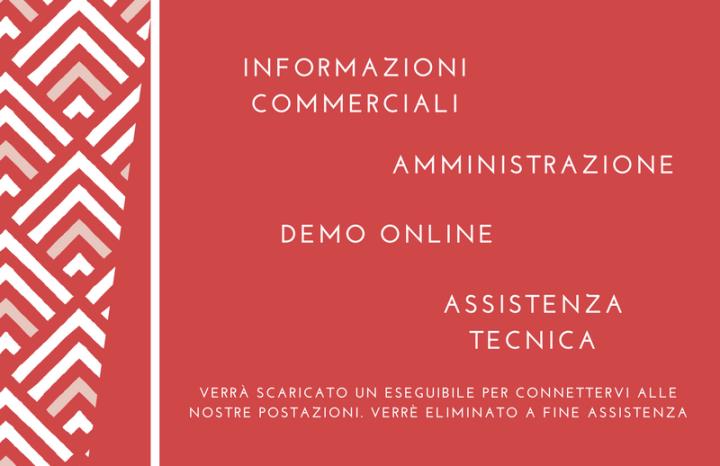 Link per contatto commerciale o Amministrativo o per demo online