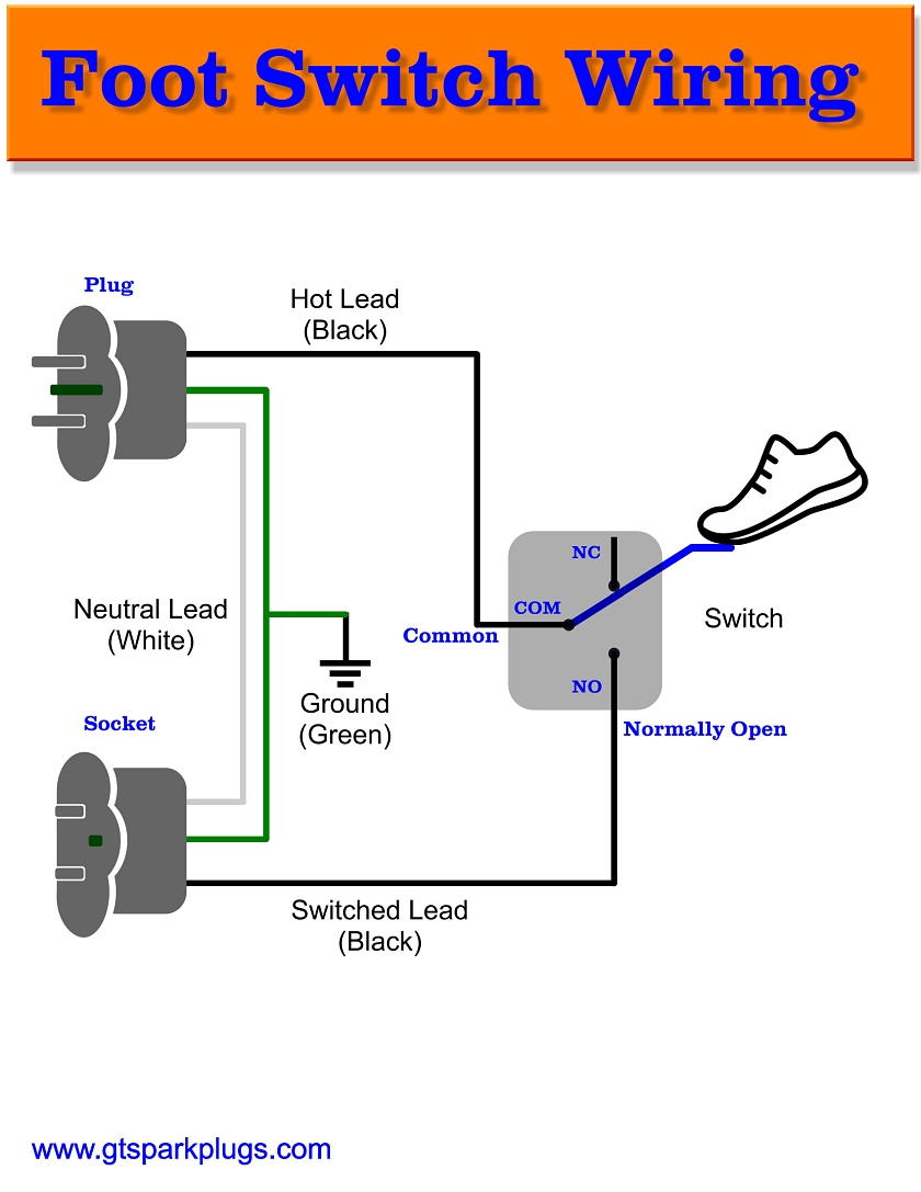 hight resolution of foot switch wiring diagram