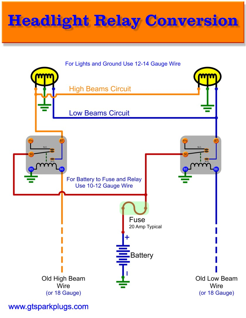 hight resolution of headlight relay wiring gtsparkplugs headlight parts diagram headlight relay wiring diagram
