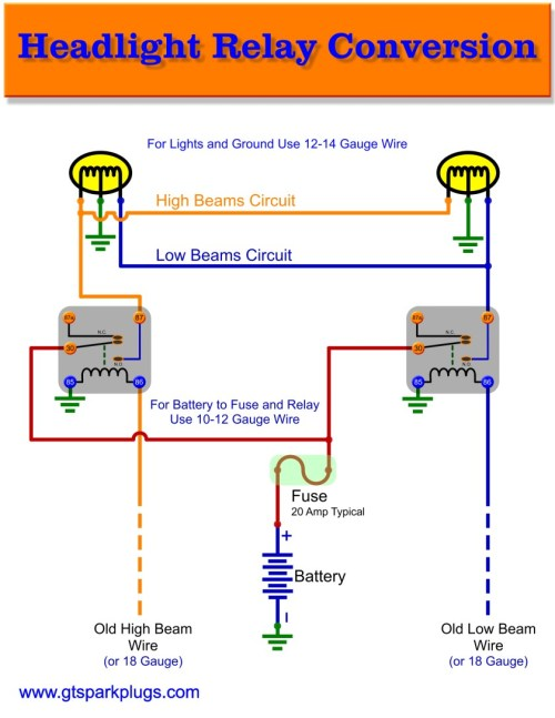 small resolution of headlight relay wiring gtsparkplugs headlight parts diagram headlight relay wiring diagram