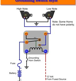 basic horn wiring diagram [ 840 x 1087 Pixel ]