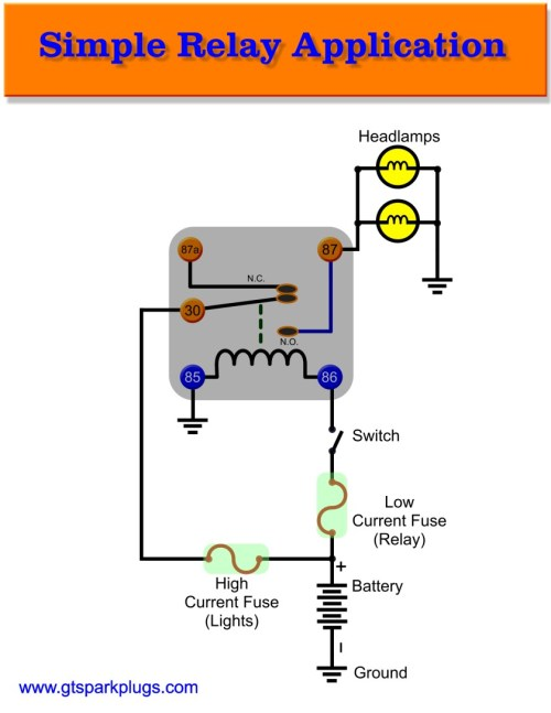 small resolution of simple automotive relay connection