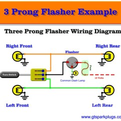 3 Prong Plug Wiring Diagram For Kohler Generator Pin Turn Signal Flasher Automotive Flashers Gtsparkplugsthree