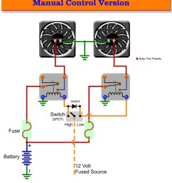 automotive electric fans gtsparkplugs wiring in house two speed manual automotive fan control [ 840 x 1087 Pixel ]