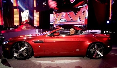 Wwe Superstar Alberto Del Rio And His Aston Martin Vantage On