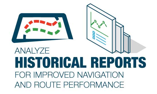 Analyze historical reports for improved navigation and route performance