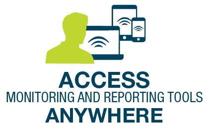 Access monitoring and reporting tools anywhere