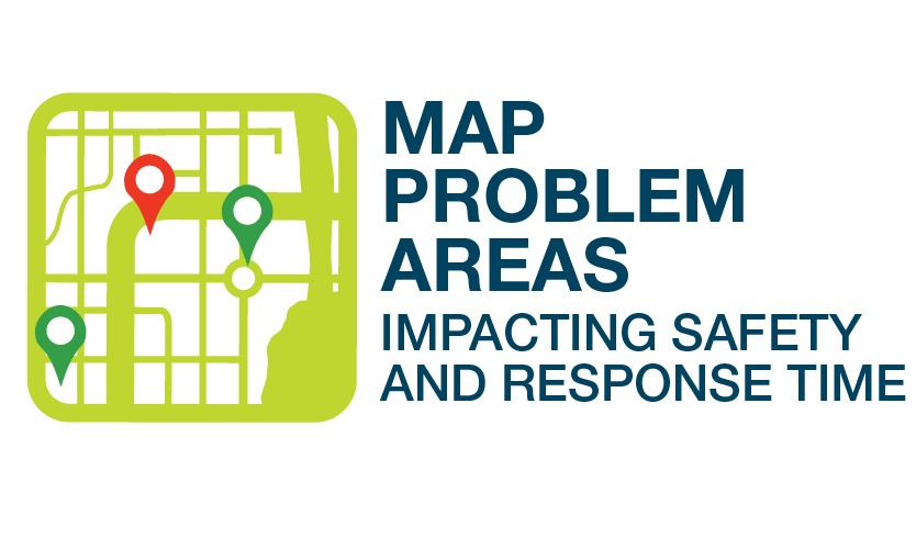 Map problem areas impacting safety and response time