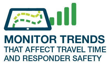 Monitor trends that affect travel time and responder safety