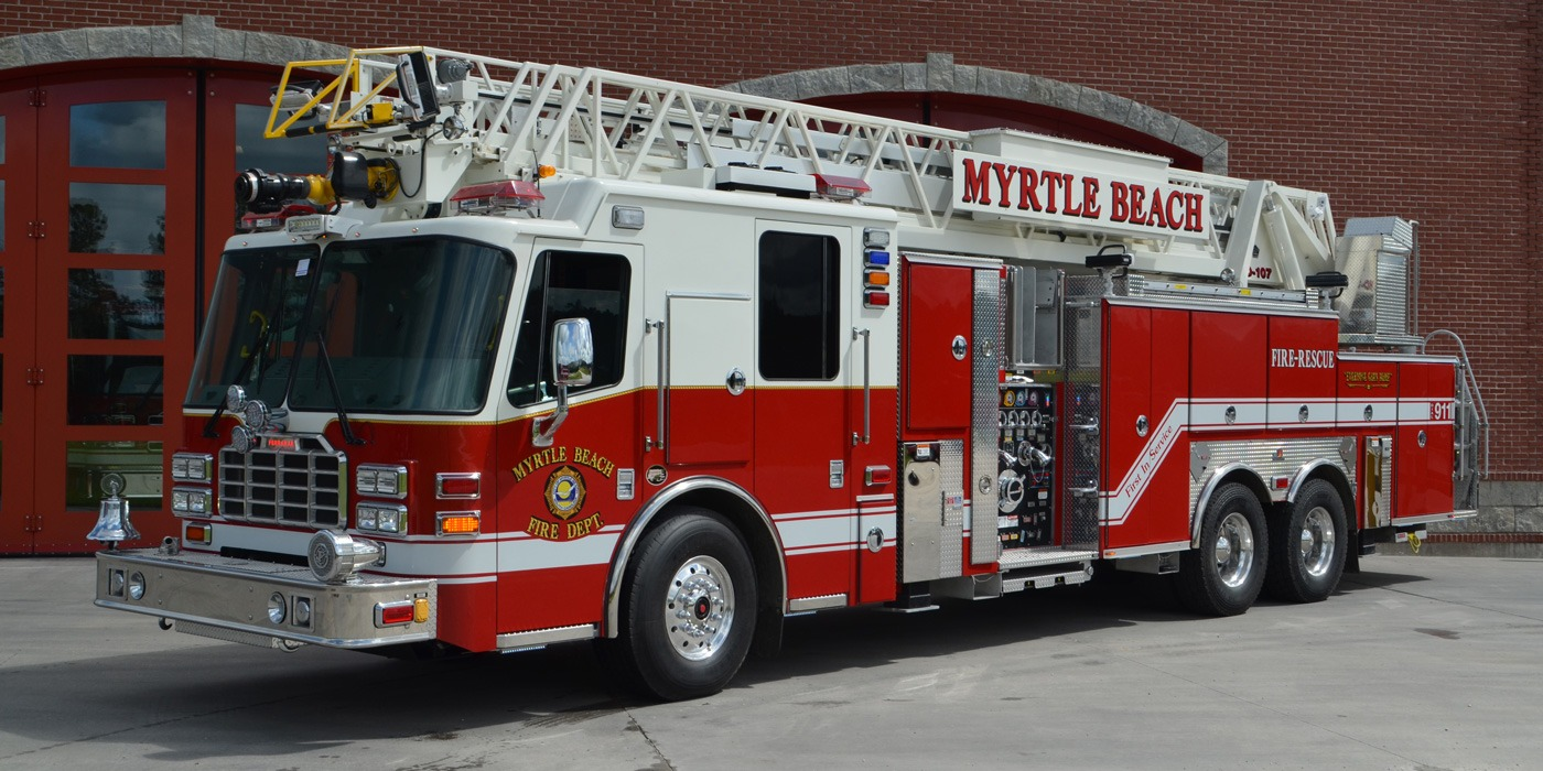 Myrtle Beach Fire Truck emergency response
