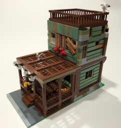 A MOC built by six club members in one evening entirely from parts harvested from the Old Fishing Store Ideas set.