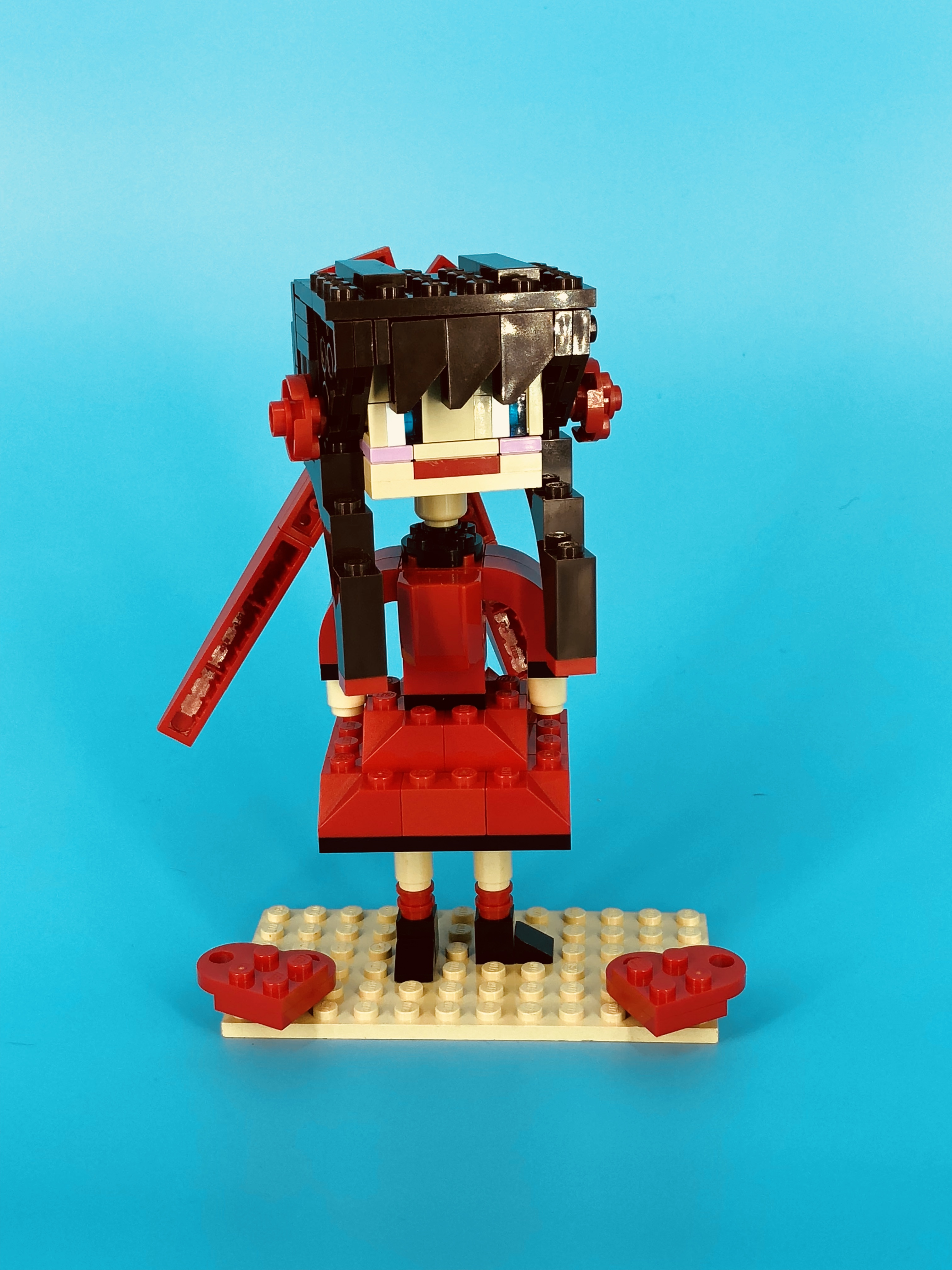 """The winning model from the club's March 2018 """"Mandatory Fun"""" Anime Build competition."""