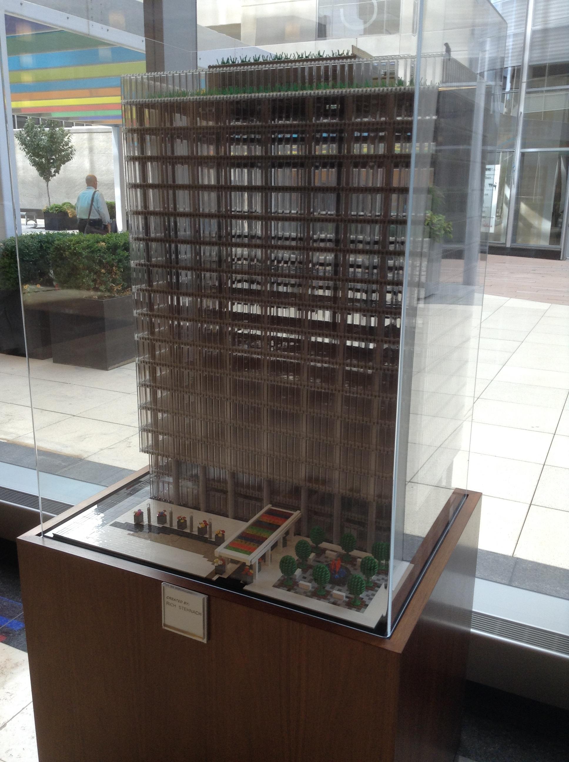 MOC of Centene corporate headquarters inside Centene's corporate headquarters.