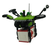 Dragon Fly Cargo Drone MOC by a club member for the 10x10x10 drone category for SpaceJam 2018