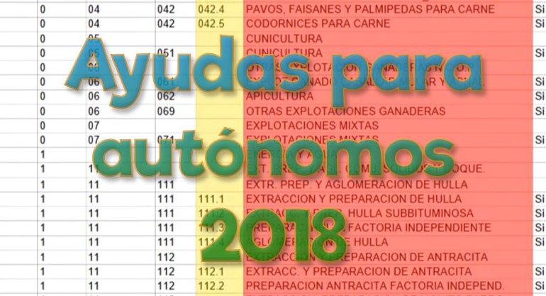 ayudas para autonomos 2018