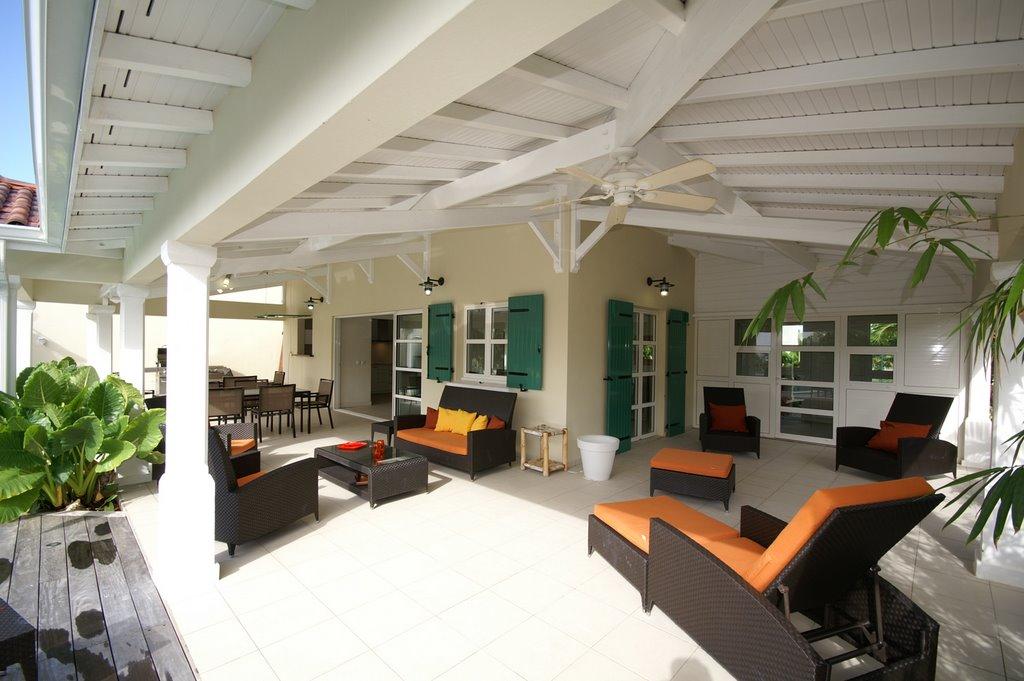 Hbergement de luxe en Guadeloupe villa Boubou en location  Saint FRANCOIS bord Golf