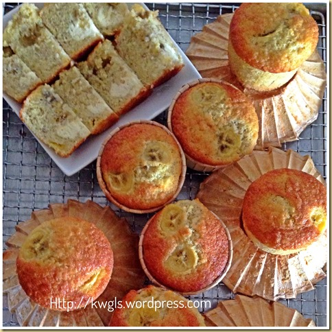 Banana Cream Cheese Cupcakes–One Number Baking Ratio Adventures No. 10