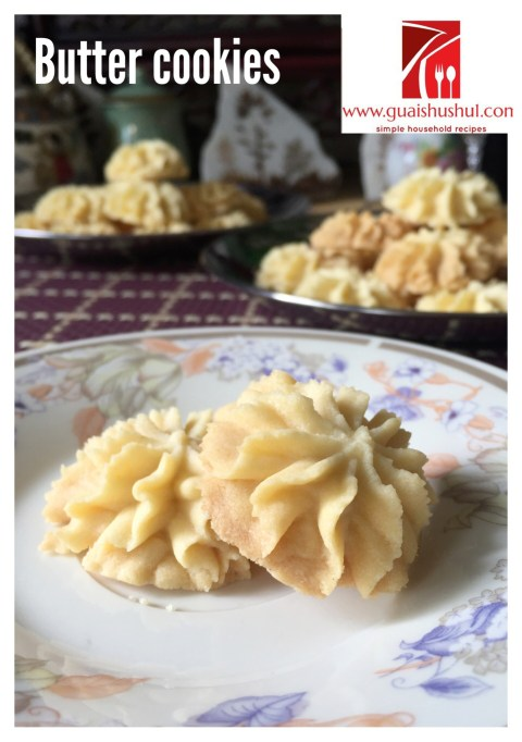 Melting Moments aka Basic Butter Cookies 传统奶油饼干