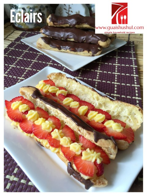 My Chocolate Éclairs Are Ugly But Possess Awesome Internal Beauty.. Chocolate Éclairs