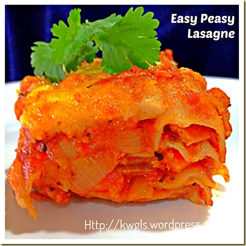 Easy Peasy Lasagne…….