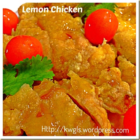Lemon Chicken or Orange Chicken  - Another Star Hawker Dish In Singapore And Malaysia