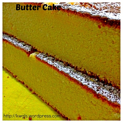 Back To Basics–Modified Traditional Butter Pound Cake