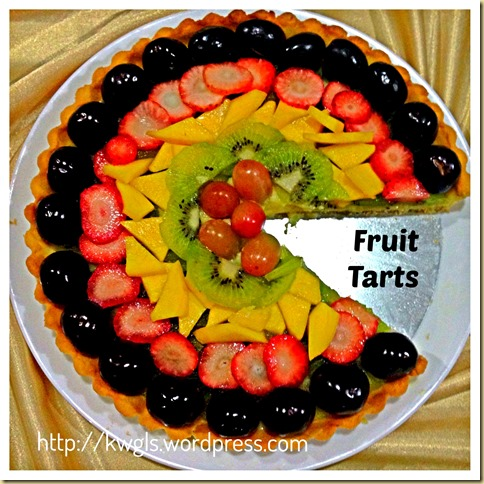 A Light and Fruity Dessert For Christmas – Simple Fruit Tart (水果挞)