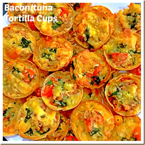 Bacon/Tuna Tortilla Cups and Pizza Snack (烙饼小吃)