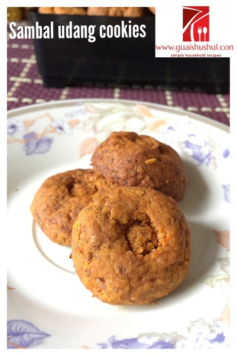 Another Savoury Cookies For Chinese New Year–Chilli Shrimp Floss Cookie