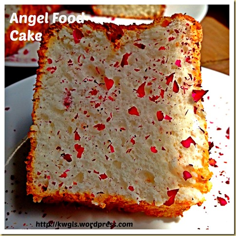 Too Much Egg Whites Left? Try Rose Angel Food Cake
