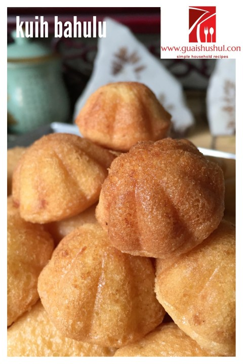 If You Don't Have The Mould Try This Macaroon Looked Alike–Kueh Bahulu (蛋花糕)