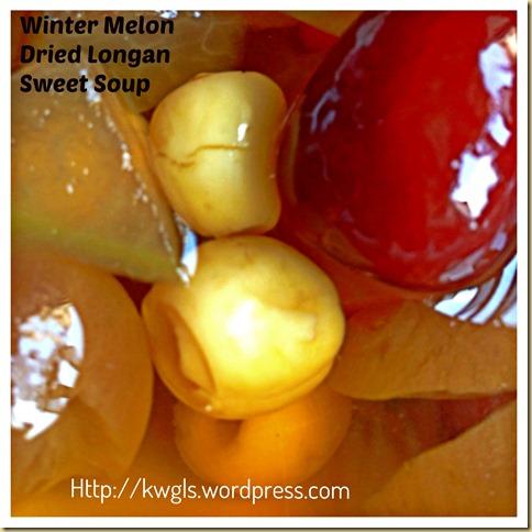 After CNY Feasting, A Simple Sweet Dessert For Body Detoxification–Winter Melon Dried Longan Sweet Soup (冬瓜桂圆糖水)