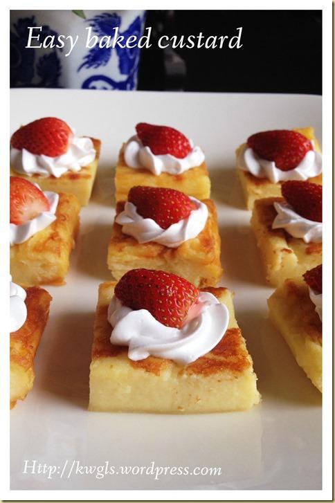 Easy Peasy Baked Custard Slices (烤吉士甜品,烤蛋奶甜品)
