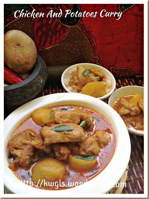 Simple Homemade Curry Chicken and Golden Pillow (咖喱鸡, 咖喱面包鸡)