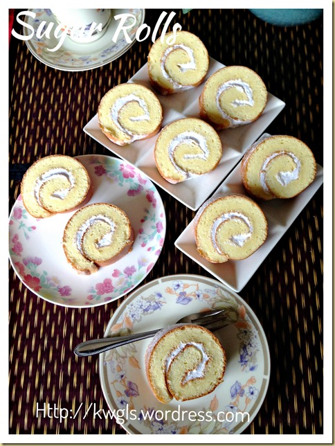 Another No Frill Simple Basic Recipe–Sugar Rolls (瑞士糖卷)