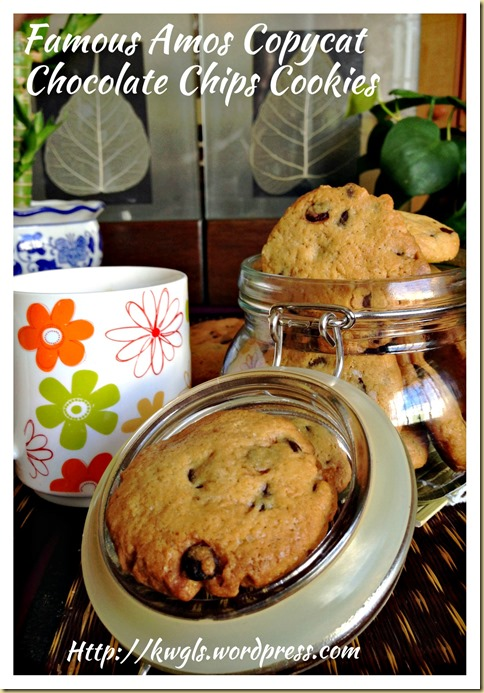 Famous Amos Copycat Chocolate Chips Cookies (山寨版之Famous Amos 巧克力曲奇)