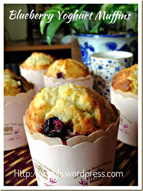 Another Breakfast Muffin In The List–Blueberry Yoghurt Muffins (炼乳酸奶蓝梅小松饼)