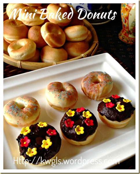 Baked Is Healthier…  Isn't It?  Mini Baked Donuts (迷你甜甜圈-烘烤版本)