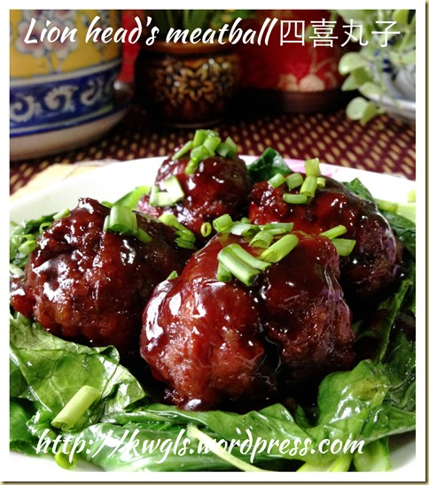 Do You Like To Have A Lion's Head? Braised Lion's Head Meatball (红烧狮子头)