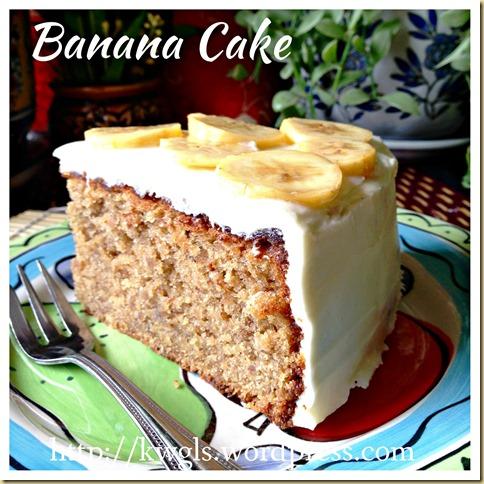 Cooked Dough Banana Cake (烫面香蕉蛋糕)