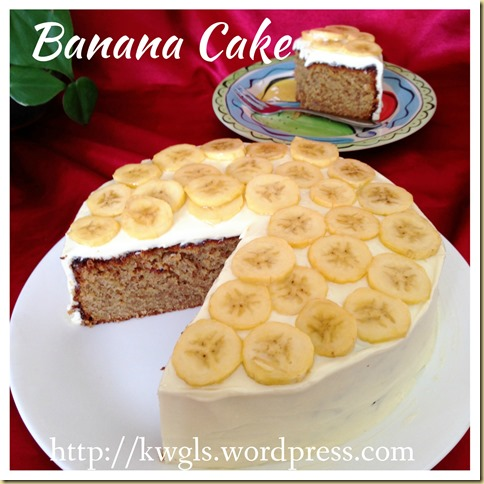 Banana Cake With Cream Cheese Frosting (香蕉蛋糕)