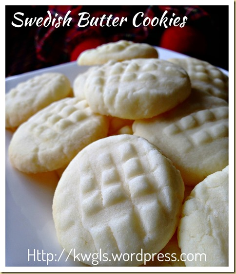 Uppåkra (Swedish Butter Potato Starch Cookies) (瑞典马铃薯粉牛油饼干)