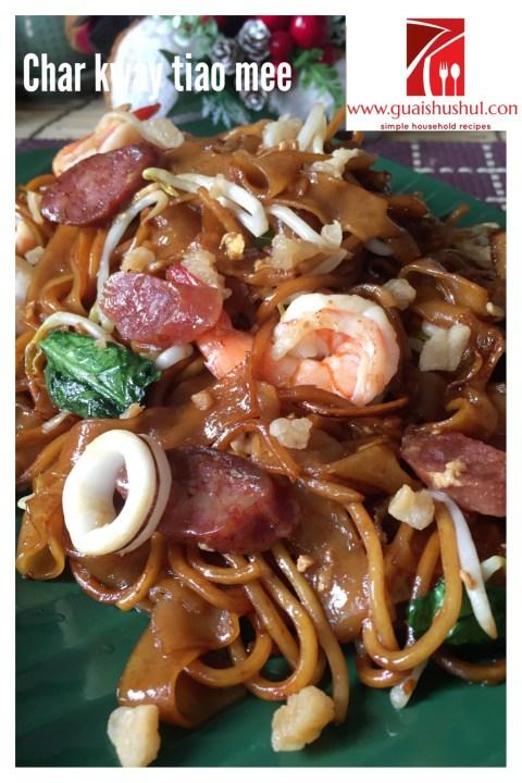 Singapore Stir Fry Flat Rice Noodles or Char Kway Tiao (炒粿条面)